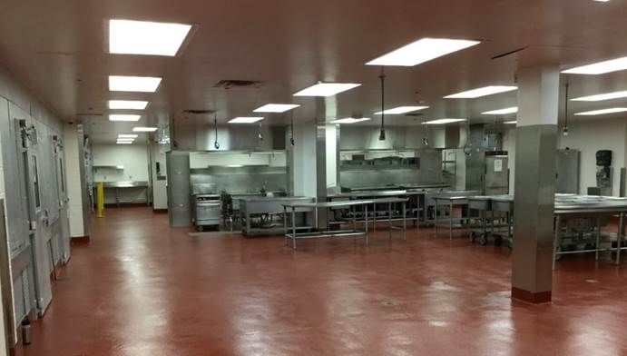 El Paso County Criminal Justice Center Kitchen after Renovation