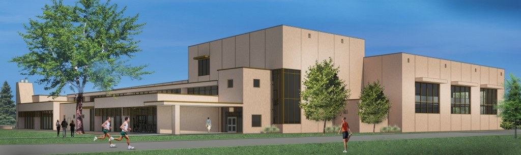 Rendering of proposed Fountain Valley School Athletic Center